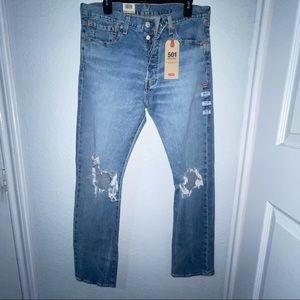 Levi's Men's Original 501 Stretch Jean Size 33x32